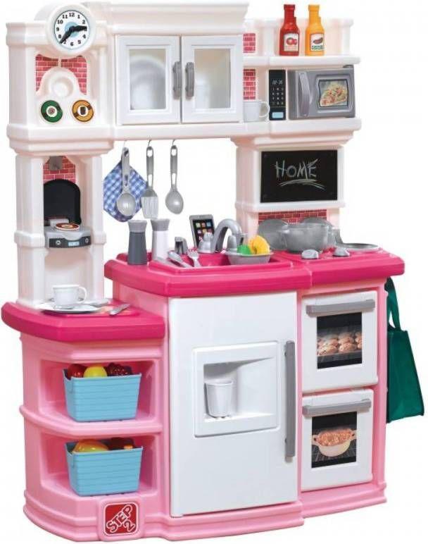 Speelkeuken Miele Gourmet Luxe.Step2 Speelkeuken Great Gourmet 116 Cm Wit Roze 30 Delig