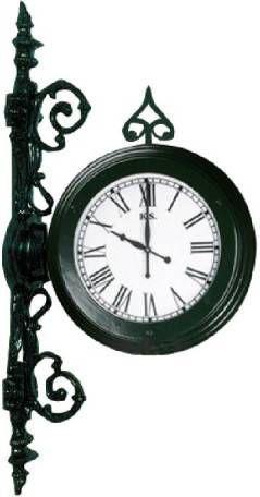 KS Verlichting Stationsklok Clock voor aan de muur KS - Klokken.shop