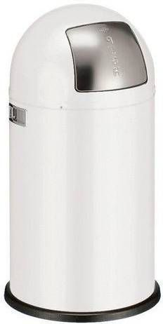 Wesco Pushboy Grijs.Prullenbak Met Pushdeksel Pushboy Wesco 50 Ltr Wit