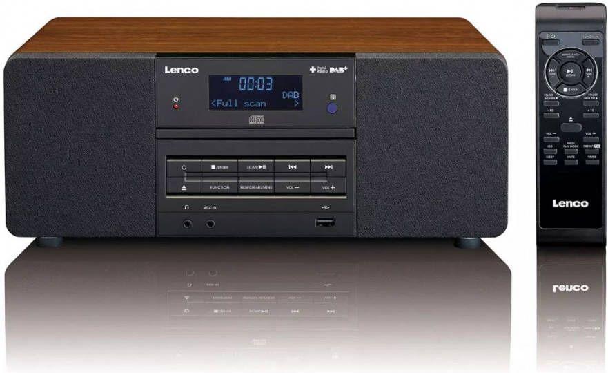 Wonderbaarlijk Lenco DAB+/FM radio met CD/MP3 speler DAR 050 hout - Klokken.shop WF-23